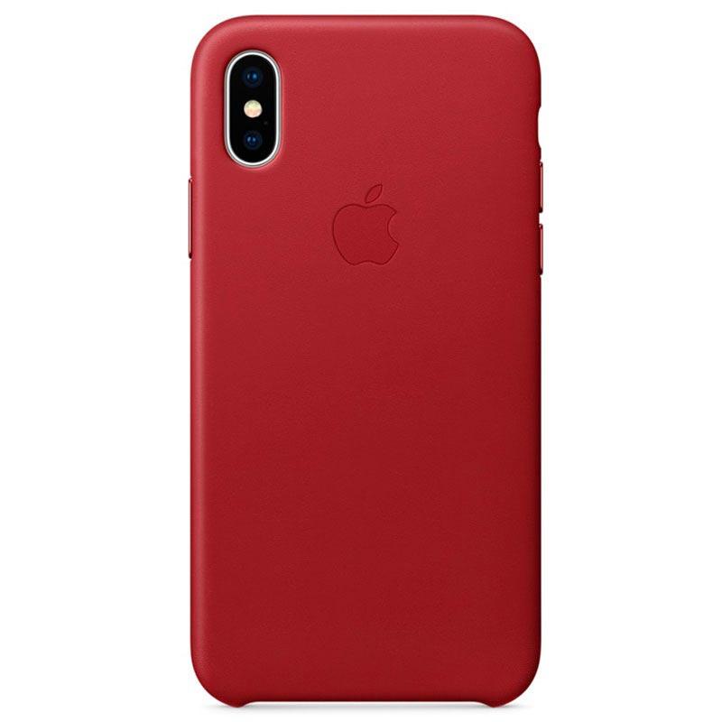 Original iPhone X Apple Leather Case MQTE2ZM A Red 19092017 01 p