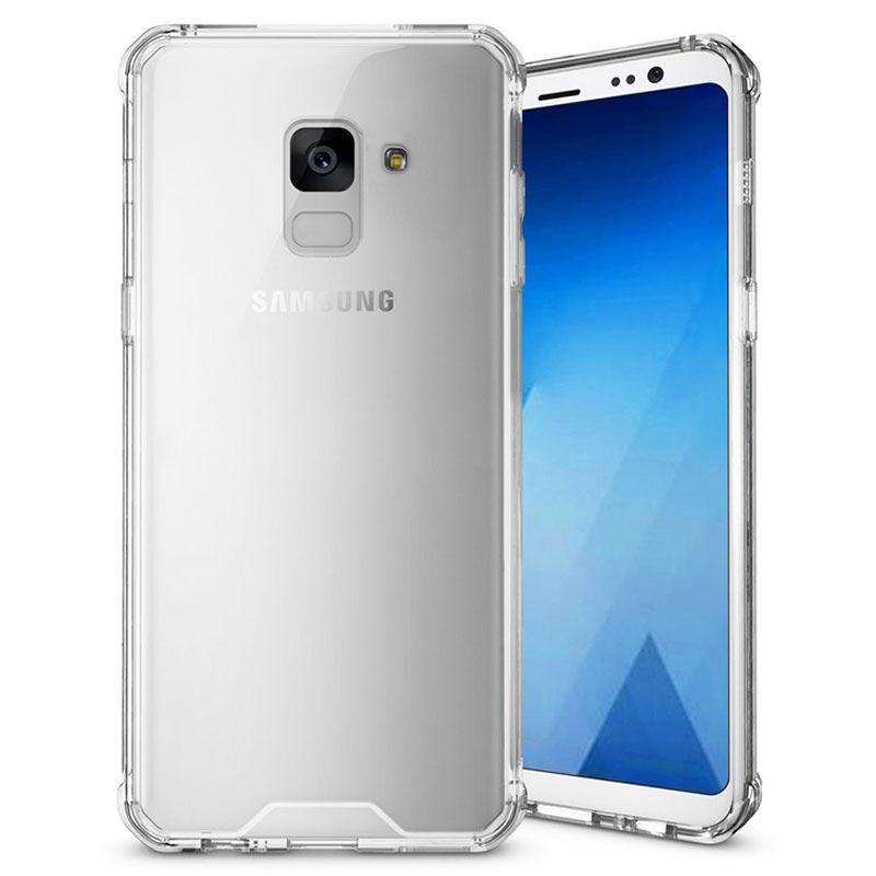 Coque Hybride Samsung Galaxy A8 (2018) Résistante aux Rayures - Transparente
