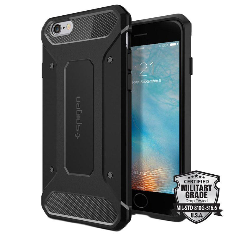 Spigen Rugged Armor Case for iphone6 iphone 6s matte black 28082018 01 p