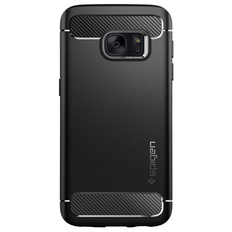 Coque Spigen Rugged Armor pour Samsung Galaxy S7 - Noire