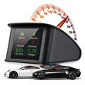 Universal Smart Digital Car HUD Speedometer T600 - Black